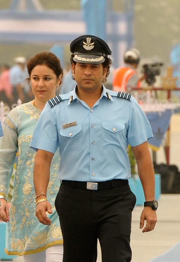 Sachin Tendulkar attends 87th Indian Air Force Day - Cricket@22Yards